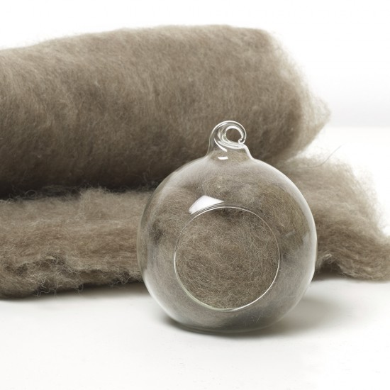 Carded Scandinavian wool 10 Grams -Teddy Bear Brown 12