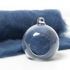 Carded Scandinavian wool 10 Grams -Mid Blue 16