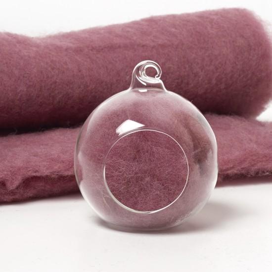 Carded Scandinavian wool 10 Grams -Dusky Lavender 22
