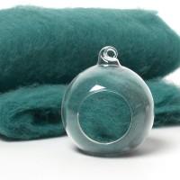 Carded Scandinavian wool 10 Grams -Jade Green 32