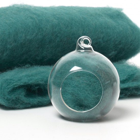 Carded Scandinavian wool 10 Grams -Jade Green 32