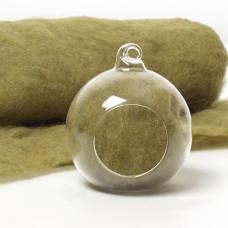 Carded Scandinavian wool 10 Grams -Moss Green 33