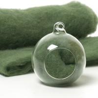 Carded Scandinavian wool 10 Grams -Pixie Green 50