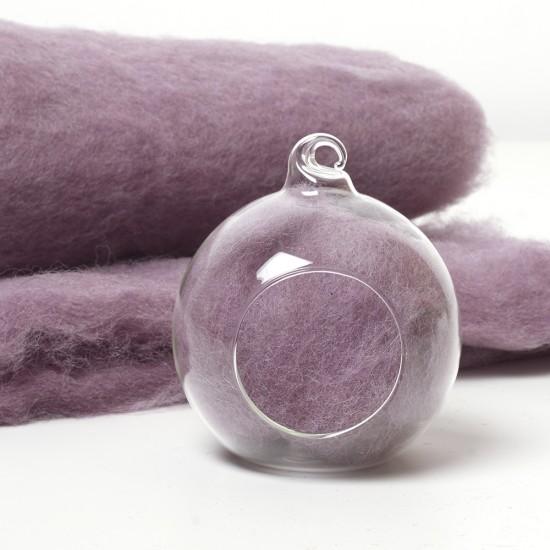Carded Scandinavian wool 10 Grams -Lilac 65