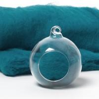 Carded Scandinavian wool 10 Grams -Blue Mountain-69