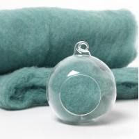 Carded Scandinavian wool 10 Grams -Turquoise 71