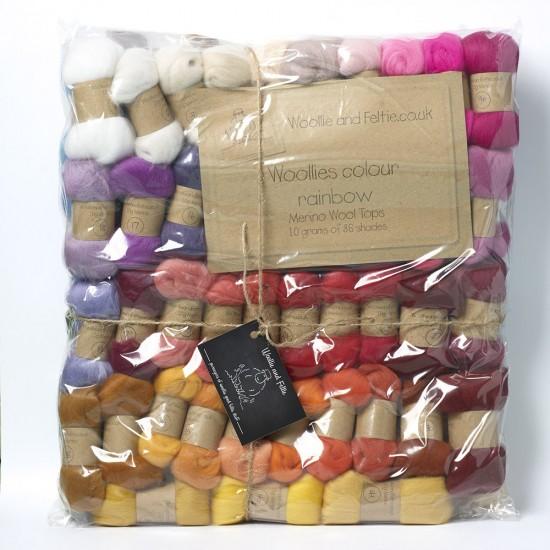Woollie and Felties Merino Rainbow Bumper Pack