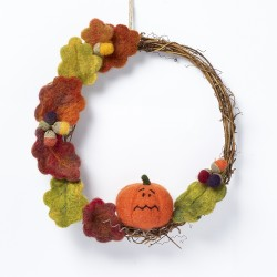 Autumn Wreath needle felting kit