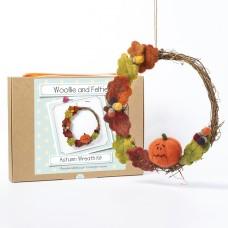 Autumn Wreath needle felting kit