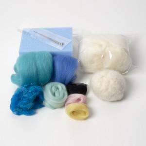 Birdie needle felting kit