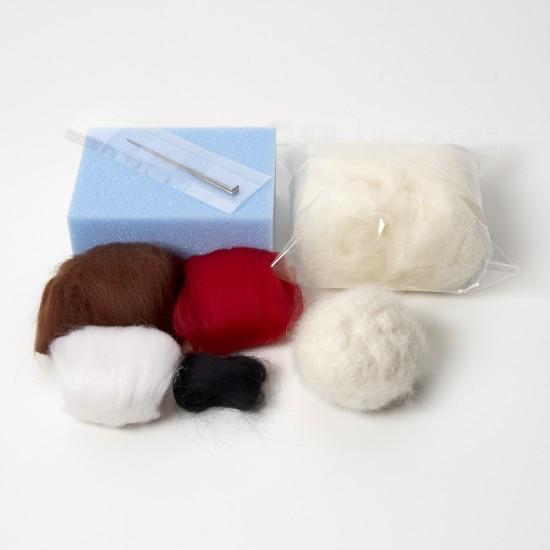 Robin needle felting kit
