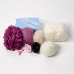 Flossie Sheep needle felting kit