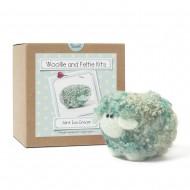 Mint ice cream woollie  needle felting kit
