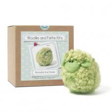 Pistachio ice cream woollie  needle felting kit