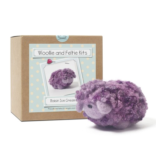 Raisin ice cream woollie  needle felting kit
