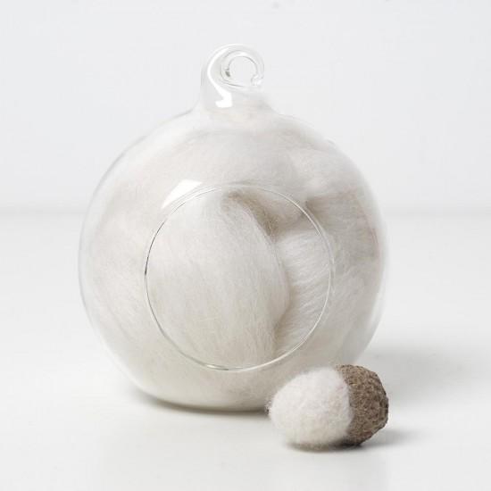 Merino white 01 wool top 10g