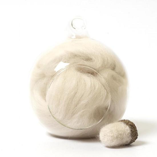 Merino neutral 03 wool top 10g