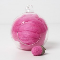 Merino pink 08 wool top 10g