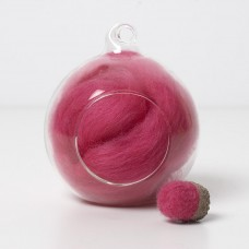 Merino pink 11 wool top 10g