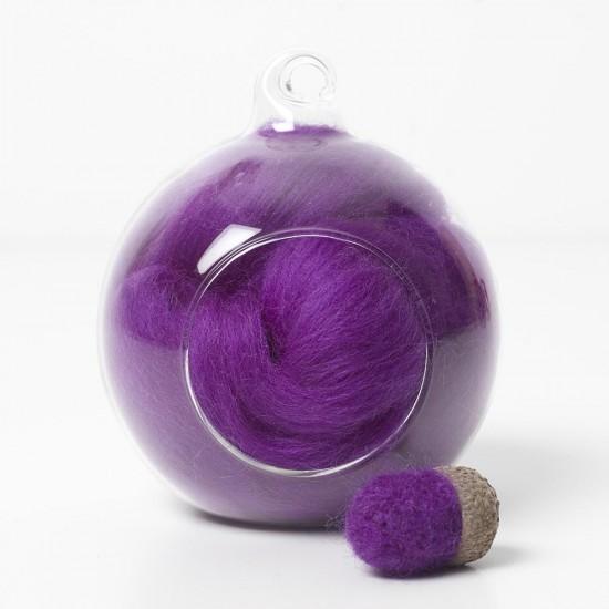Merino purple 12 wool top 10g