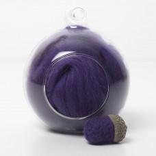Merino purple 13 wool top 10g