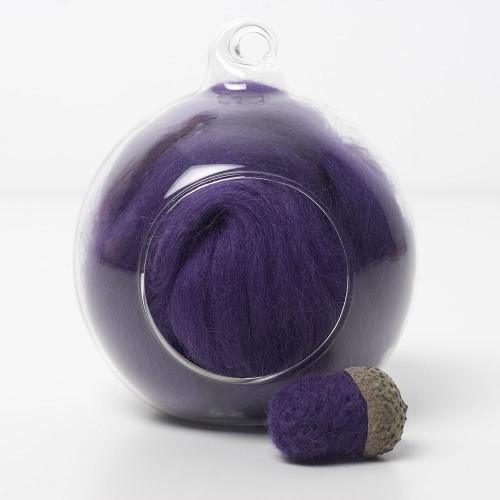 Merino purple 13 wool top 10g