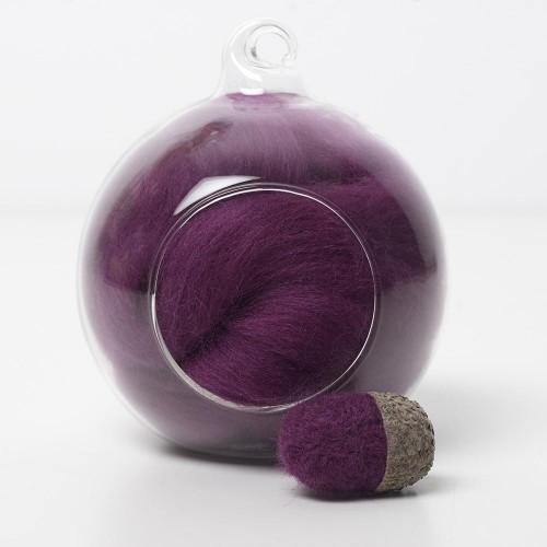 Merino purple 14A wool top 10g