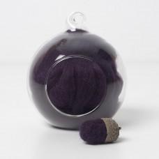Merino purple 14 wool top 10g