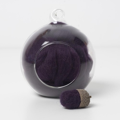 Merino purple 14 wool top 10g