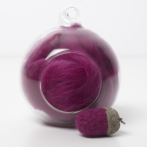 Merino pink 15 wool top 10g