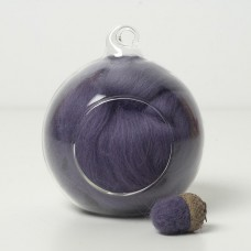 Merino purple 16 wool top 10g