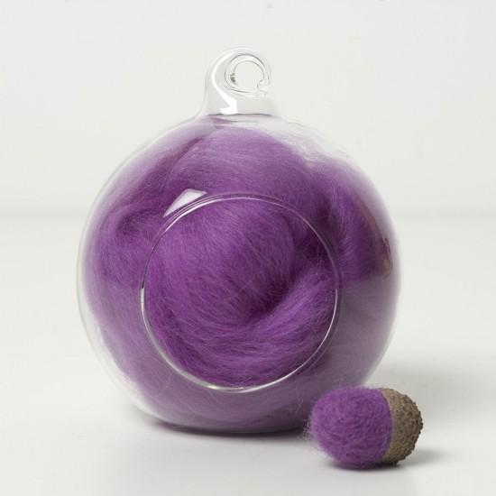 Merino purple 17 wool top 10g