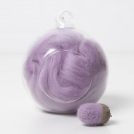 Merino purple 18 wool top 10g