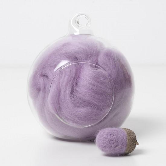Merino purple 18 wool top 10g
