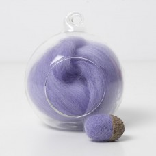 Merino purple 19 wool top 10g