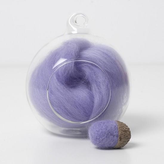 Merino purple 19 wool top 10g