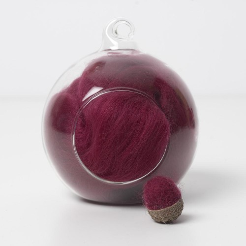 Merino red 20 wool top 10g