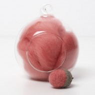 Merino red 22 wool top 10g