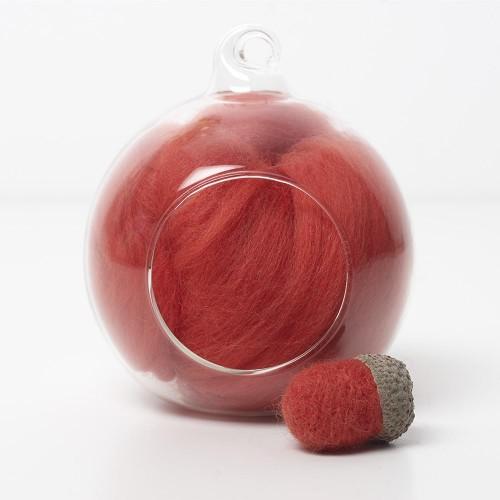 Merino red 23 wool top 10g