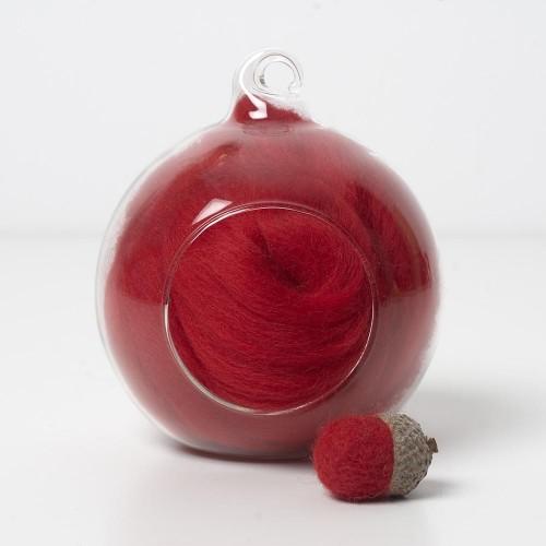 Merino red 24 wool top 10g