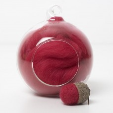 Merino red 26 wool top 10g