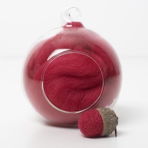 Merino red 26 wool top 10g