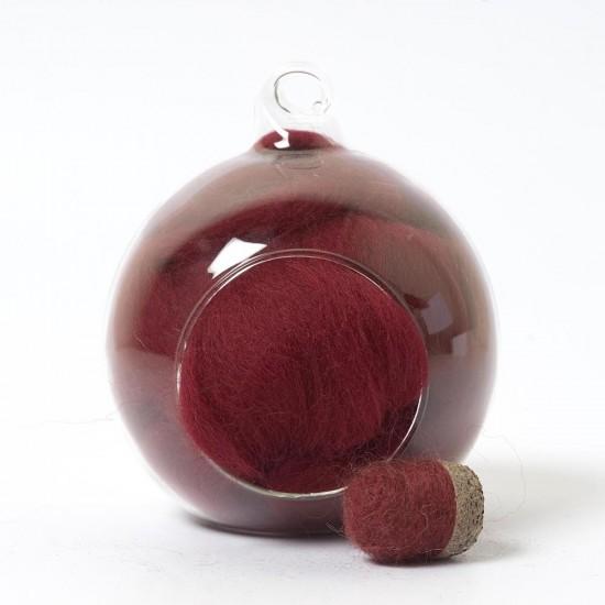 Merino red 27 wool top 10g