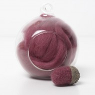 Merino red 28 wool top 10g
