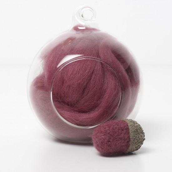 Merino red 28 wool top 10g