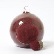 Merino red 29 wool top 10g