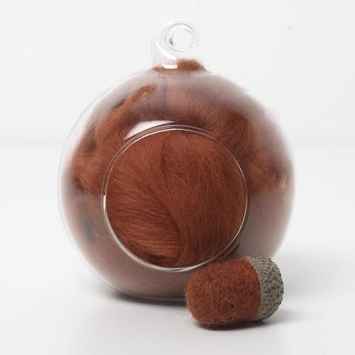 Merino orange 30 wool top 10g