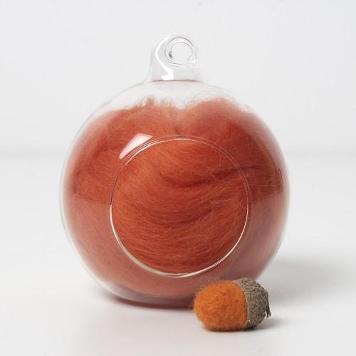 Merino orange 32 wool top 10g