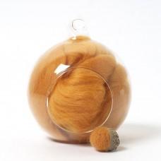Merino yellow 35 wool top 10g