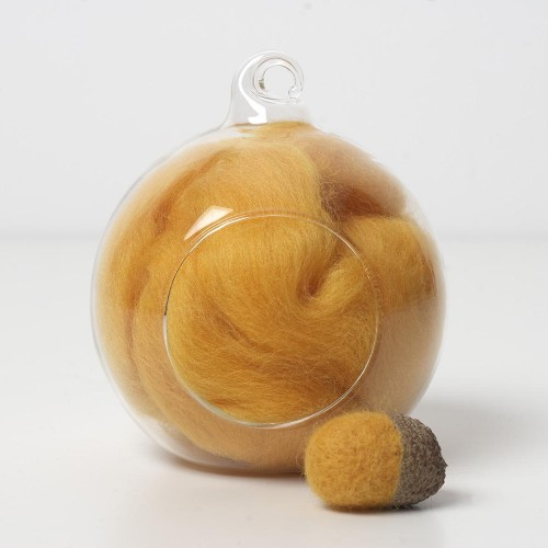 Merino yellow 36 wool top 10g